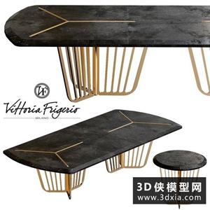 现代餐桌国外3D模型【ID:729319797】