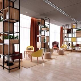 德国Intercity酒店现代接待区3D模型【ID:428031522】