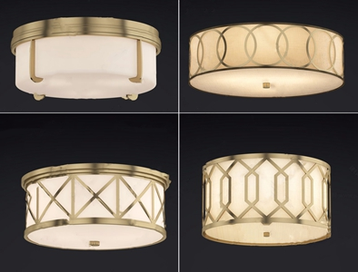 新中式吸頂燈組合3D模型【ID:628298057】