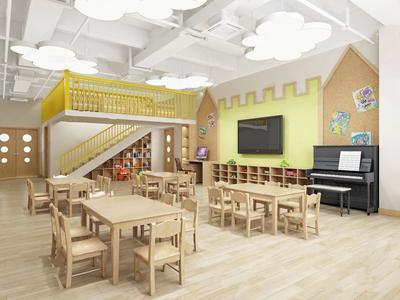 幼兒園教室3D模型【ID:932411651】