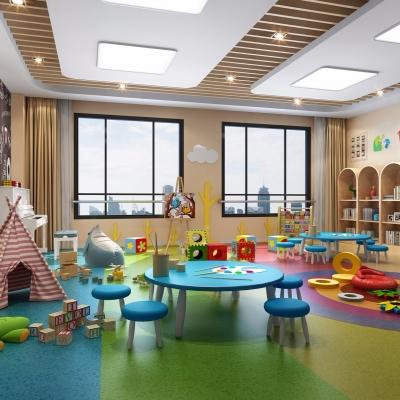 現代兒童休閑娛樂室3D模型【ID:127773013】