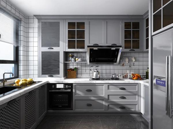 北歐整體式廚房3D模型【ID:548244326】