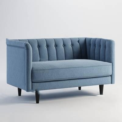 现代双人沙发3D模型【ID:920606779】