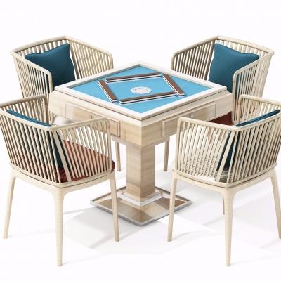 现代实木麻将桌3D模型【ID:328441693】