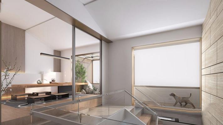 现代茶室3D模型【ID:327935732】