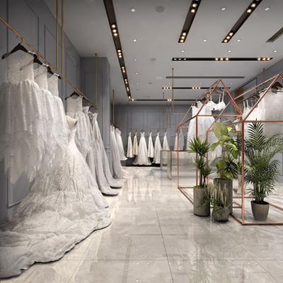 現代婚紗店3D模型【ID:934113294】