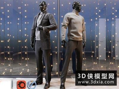 男裝模特國外3D模型【ID:929347661】