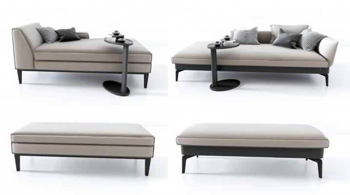 北歐躺椅組合3D模型【ID:227881611】