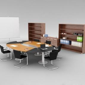 现代会议桌3D模型【ID:427883100】