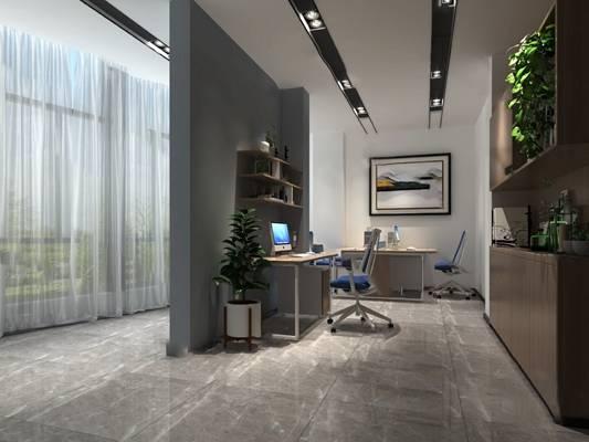 现代办公室3D模型【ID:420614074】
