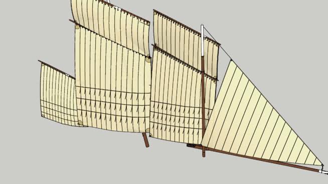 傳統的圣米歇爾灣帆船SU模型【ID:840244497】