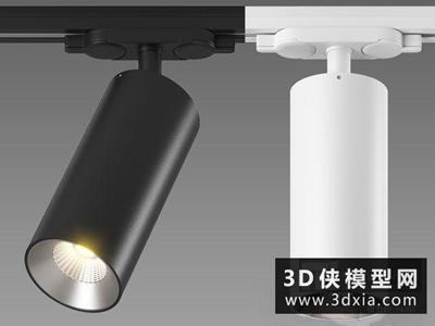 現代軌道射燈國外3D模型【ID:929359135】