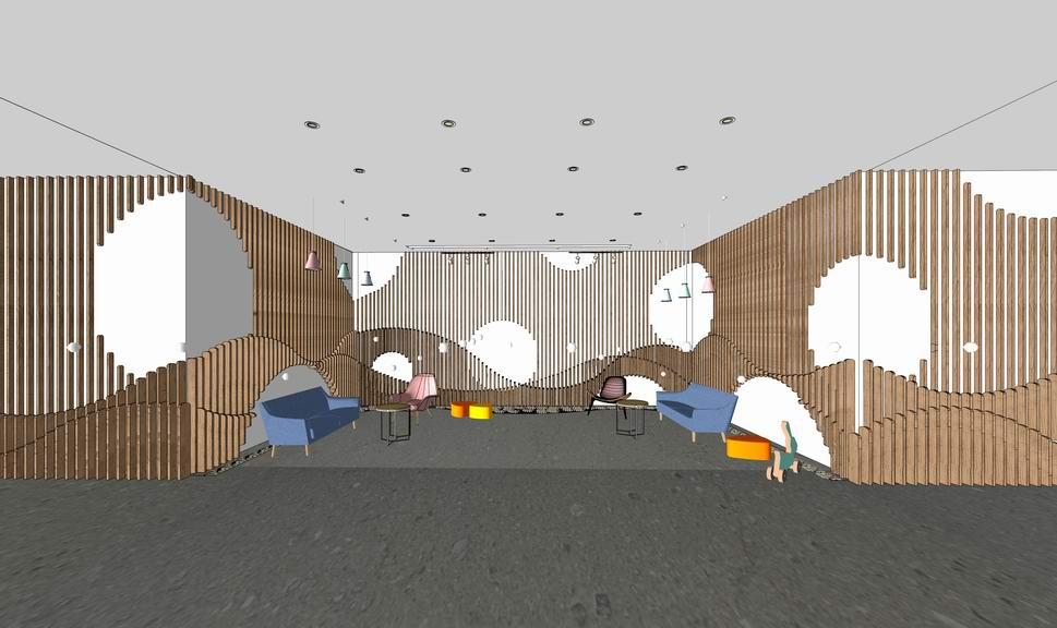 幼儿园室内设计SU模型【ID:836847132】