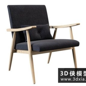 现代休闲椅国外3D模型【ID:729484879】