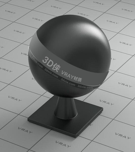 黑色塑料Vray材质【ID:736504826】