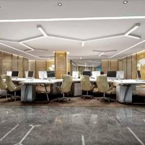 现代办公室3D模型【ID:724890509】