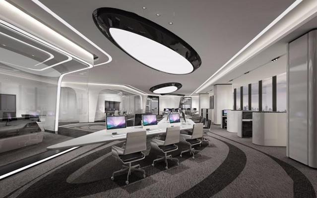 现代办公室3D模型【ID:728076682】