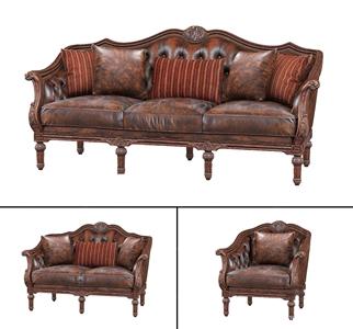 欧式古典沙发组合3D模型【ID:641354724】