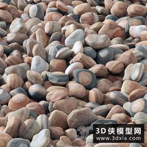 鹅卵石模型下载国外3D模型【ID:929319643】