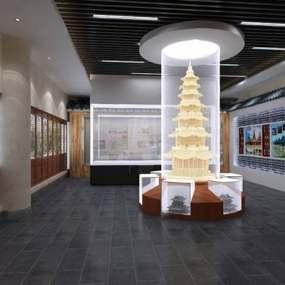 新中式展厅3D模型【ID:124891378】