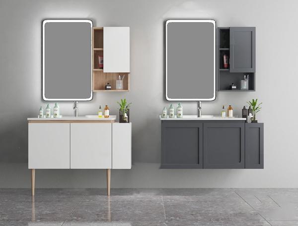 現代浴室柜洗手臺3D模型【ID:147087855】