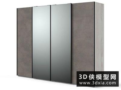 現代成品衣柜國外3D模型【ID:829416088】