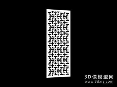 中式雕花隔斷國外3D模型【ID:929799502】