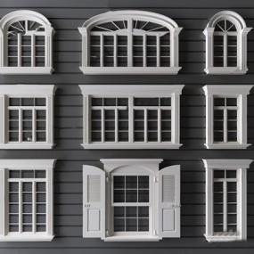 简欧窗户3D模型【ID:728312657】