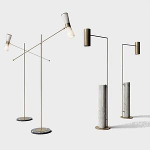 現代落地燈組合3D模型【ID:620799226】
