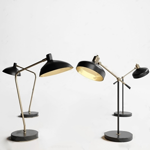 现代台灯组合3D模型【ID:620806142】