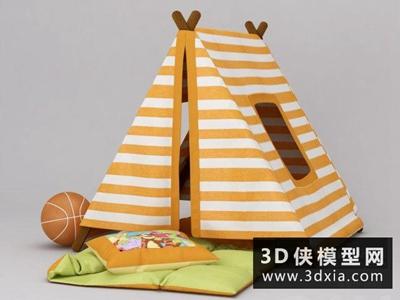 儿童帐篷国外3D模型【ID:129597981】