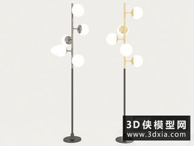 现代落地灯国外3D模型【ID:929375050】