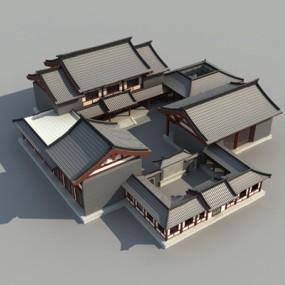 中式四合院3D模型【ID:326234824】