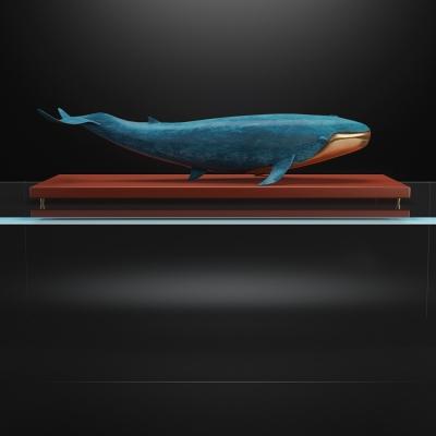 现代鲸鱼摆件3D模型【ID:927834147】