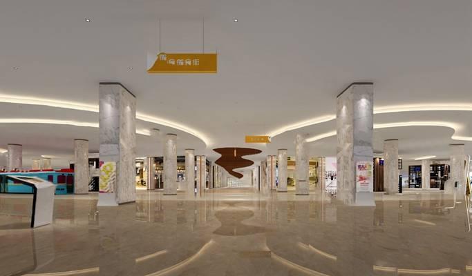 现代商场3D模型【ID:920602079】