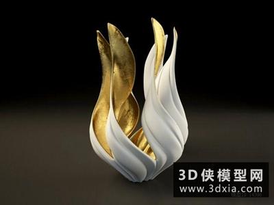 现代装饰品国外3D模型【ID:929741762】