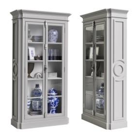 欧式置物柜装饰柜3D模型【ID:928564255】