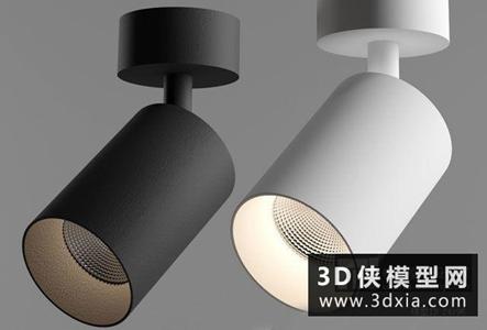 現代明裝射燈國外3D模型【ID:929354136】