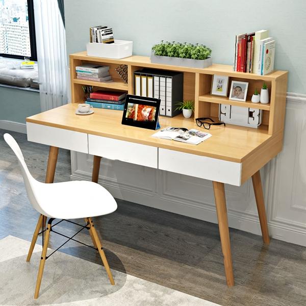 北歐簡約實木書桌3D模型【ID:946207093】