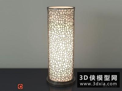 現代臺燈國外3D模型【ID:829429927】