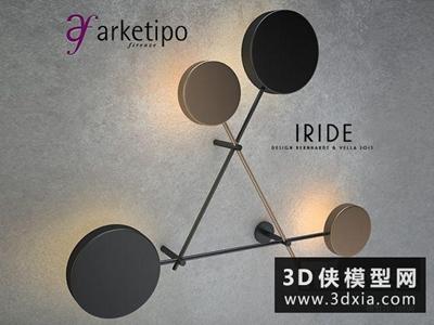 現代壁燈國外3D模型【ID:829657878】