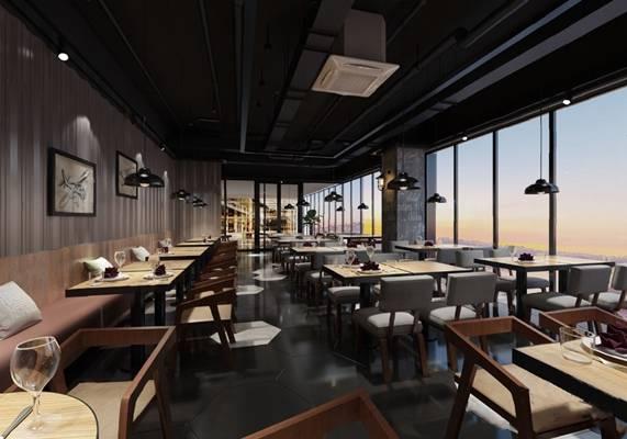 餐厅3D模型【ID:120027878】