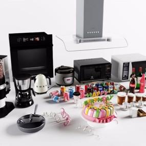 厨房电器组合3D模型【ID:828139352】