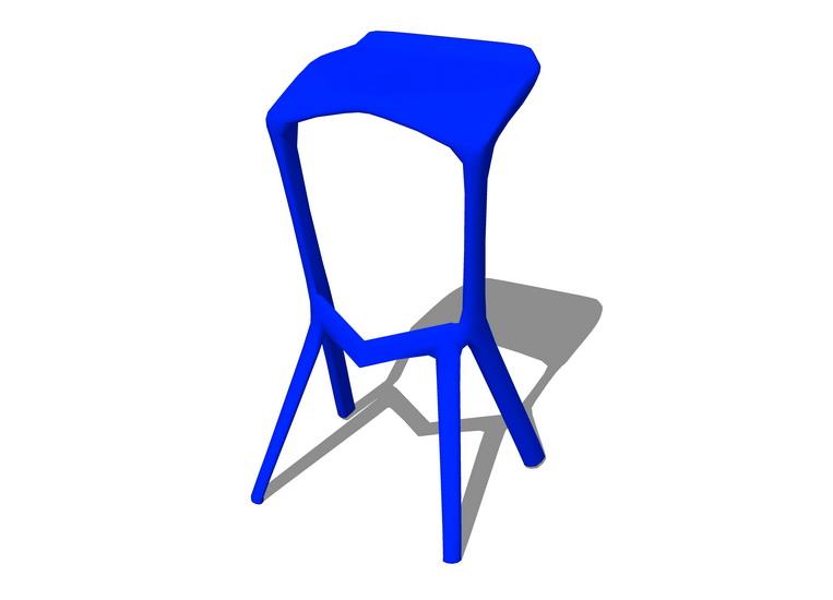 吧台椅子SU模型【ID:936877411】