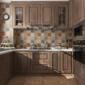美式厨房3D模型【ID:127766421】