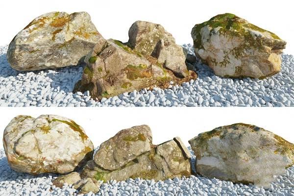 现代石头3D模型【ID:124894349】