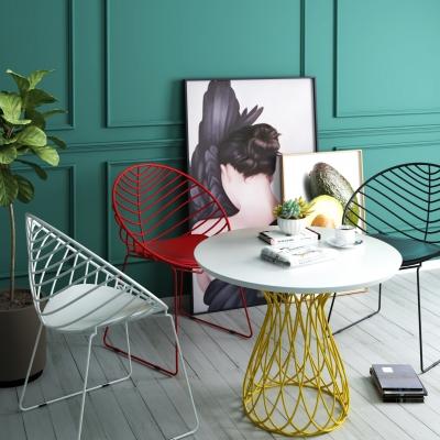 現代休閑桌椅裝飾畫組合3D模型【ID:327790625】