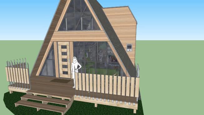 現代A型住宅(小)SU模型【ID:140269394】