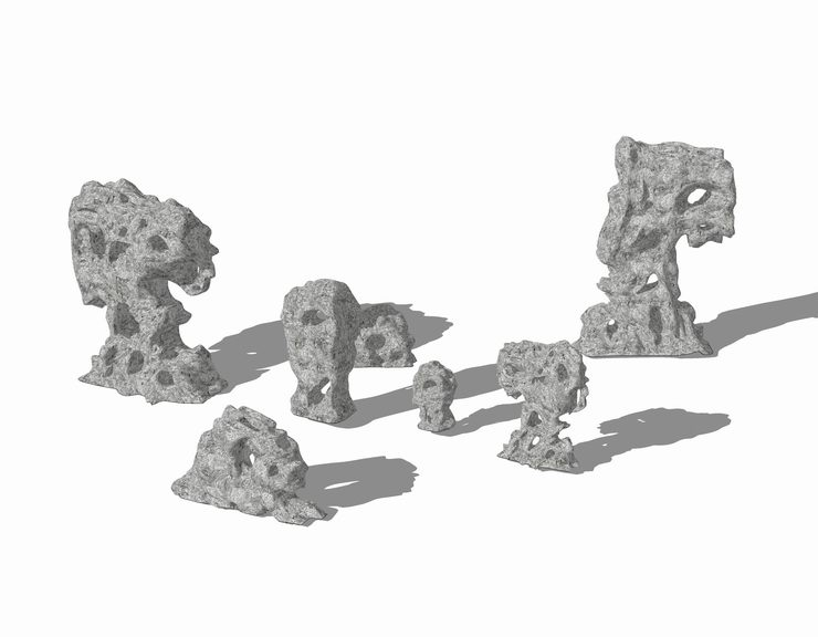 太湖石SU模型【ID:736881464】