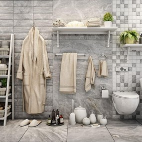 卫浴用品组合3D模型【ID:127862772】